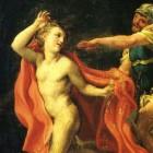 De jonge man in een linnen gewaad in Marcus 14:51-52