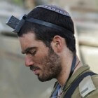Joodse symbolen: tefillien (teken op voorhoofd en arm)