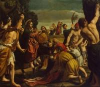 feestelijke intocht van Jezus in Jeruzalem