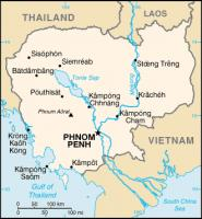 Cambodja / Bron: United States Central Intelligence Agency, Wikimedia Commons (Publiek domein)