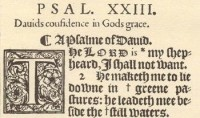 Psalm 23 / Bron: First Cambridge Company: Edward Lively, John Richardson, Lawrence Chaderton, Francis Dillingham, Rog, Wikimedia Commons (Publiek domein)