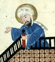 Mohammed / Bron: Derivative work: Snitty  Maome.jpg: Unknown, Wikimedia Commons (Publiek domein)