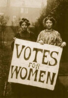 Suffragettes / Bron: hastingspress, Wikimedia Commons (Publiek domein)
