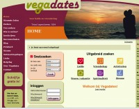 Lay-out van de site Vegadates
