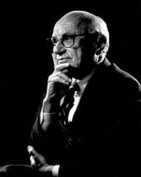 Milton Friedman, voorstander van het basisinkomen. / Bron: The Friedman Foundation for Educational Choice, Wikimedia Commons (CC0)